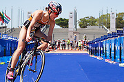 Rachel Klamer during the Discovery Triathlon World Cup Cape Town 2017. Image by Greg Beadle