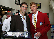 28 August 2006: 2006 inductee Alexi Lalas (r) poses with his brother Greg Lalas (l). The National Soccer Hall of Fame Induction Ceremony was held at the National Soccer Hall of Fame in Oneonta, New York.