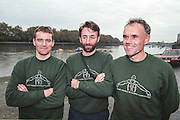 """Putney. London. GREAT BRITAIN;  left to right. Niall O'TOOLE, Peter HAINING  and Frans GOEBEL.<br /> <br /> 1995 Thames World Sculling Championships, Putney to Mortlake. Championship Course, River Thames.<br /> <br /> [Mandatory Credit; """"Photo, Peter Spurrier/Intersport-images]"""