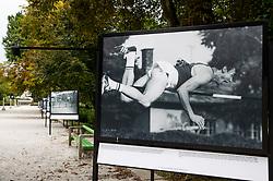 Photo of Branko Vivod during straddle technique of high jump in Celje, year 1972during Opening ceremony of photo exhibition at 100 years Anniversary of Slovenian Athletic Federation, on September 17, 2020 in Tivoli park, Jakopicevo sprehajalisce, Ljubljana, Slovenia. Photo by Vid Ponikvar / Sportida