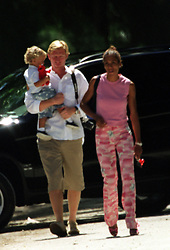 Jun 18, 2001; Miami, Florida, USA; North&South America ONLY! File Photo: BARBARA BECKER & son with BORIS BECKER the Pro Tennis Player who meet his ex-wife & children in Miami from June 6-10. Boris is in hiding from a scandal in Germany involving a bancruptcy filing of one of his companies called Sportgate..  (Credit Image: P.P./ZUMAPRESS.com)