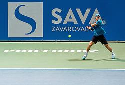 Blaz Rola of Slovenia playing 2nd Round singles during ATP Challenger Zavarovalnica Sava Slovenia Open 2019, day 6, on August 14, 2019 in Sports centre, Portoroz/Portorose, Slovenia. Photo by Vid Ponikvar / Sportida
