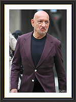 Ben Kingsley Sporting Royal Crest on Jacket Pictured Leaving BBC London 2 may 2016 Museum-quality Archival signed Framed Print
