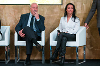 "Spainsh Vicente del Bosque and Teresa Perales during the presentation of ""Dia Cero"" the new tv show of Moviestar #0 at Telefonica Store in Madrid, Spain. October 20, 2016. (ALTERPHOTOS/Rodrigo Jimenez)"