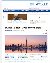 Huffington Post; Sunset and skyline of Dubai