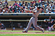 Chris Davis #19 of the Baltimore Orioles connects for a home run against the Minnesota Twins on May 12, 2013 at Target Field in Minneapolis, Minnesota.  The Orioles defeated the Twins 6 to 0.  Photo: Ben Krause