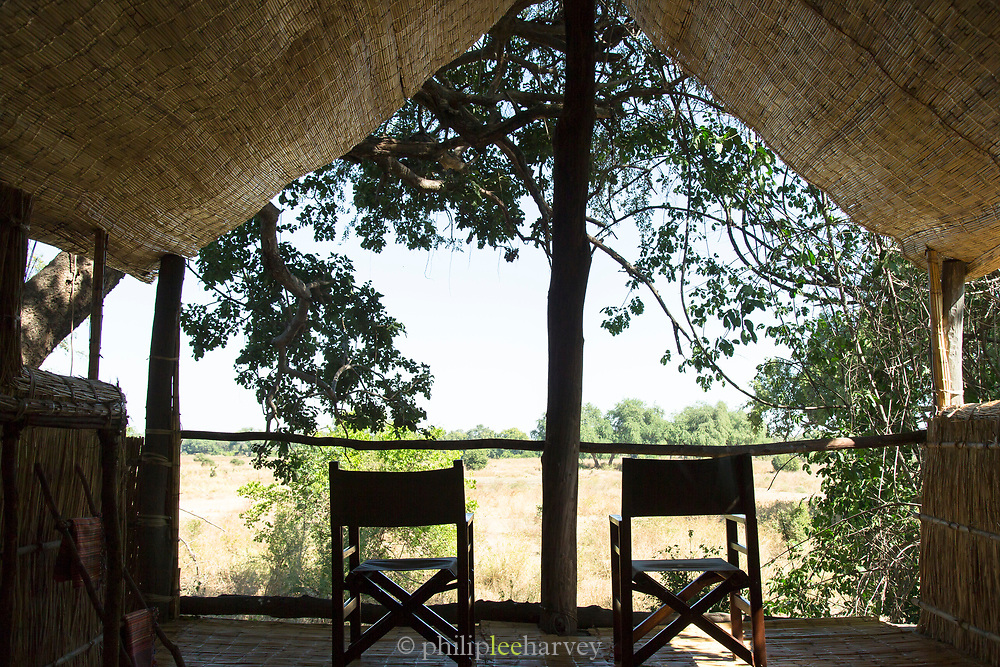 Chairs with view at Chikoko Tree Camp, South Luangwa National Park, Zambia