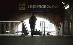 UK ENGLAND LONDON APR98 - Entrance to London Bridge Station. ..The London Underground is a rapid transit system serving a large part of Greater London and neighbouring areas of Essex, Hertfordshire and Buckinghamshire in the UK. The Underground has 270 stations and about 400 km of track, making it the longest metro system in the world by route length; it also has one of the highest number of stations and transports over three million passengers daily...jre/Photo by Jiri Rezac..© Jiri Rezac 1998