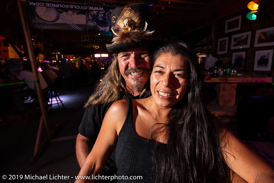 Bean're at the Iron Horse Saloon during the Sturgis Black Hills Motorcycle Rally. Sturgis, SD, USA. Monday, August 5, 2019. Photography ©2019 Michael Lichter.
