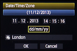 "© Licensed to London News Pictures . 11/12/2013 . Manchester , UK . A camera's time display on 11th December 2013 at 14:15:16 GMT . Today is "" Sequential Day "" the last day this century that the time and date will be made of six sequential numbers . Photo credit : Joel Goodman/LNP"