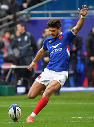France's Romain Ntamack during the Six Nations rugby union tournament match between France and England at the stade de France, in Saint Denis, on the outskirts of Paris, on February 2, 2020. Photo by Christian Liewig /ABACAPRESS.COM