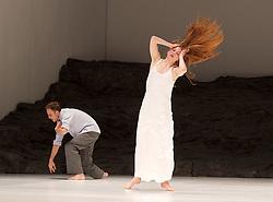 Tanztheater Wuppertal Pina Bausch <br /> 'Masurca Fogo' <br /> at Sadler's Wells, London, Great Britain <br /> rehearsals<br /> 8th February 2017 <br /> <br /> Tanztheater Wuppertal Pina Bausch: Masurca Fogo<br /> Breanna O'Mara<br /> Masurca Fogo, created by the endlessly inventive Pina Bausch, returns to Sadler's Wells from 9 - 12 February 2017. The piece is performed by the legendary Tanztheater Wuppertal Pina Bausch, a Sadler's Wells International Associate Company.<br /> <br /> <br /> <br /> <br /> Performers:<br /> Regina Advento, Pablo Aran Gimeno, Emma Barrowman, Rainer Behr, Andrey Berezin, Michael Carter, Çağdaş Ermis, Silvia Farias Heredia, Jonathan Fredrickson, Ditta Miranda Jasjfi, Daphnis Kokkinos, Cristiana Morganti, Breanna O'Mara, Nazareth Panadero, Julie Shanahan, Oleg Stepanov, Julian Stierle, Fernando Suels Mendoza, Aida Vainieri, Ophelia Young.<br /> <br /> Photograph by Elliott Franks <br /> Image licensed to Elliott Franks Photography Services