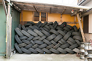 used old tires storage