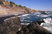 Northern California Coast: the beach at Shelter Cove (Lost Coast), Humboldt County. Pacific Ocean.