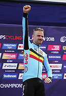 Podium, Victor Campenaerts (Belgium) gold medal Time Trial Men 45,7 km during the Road Cycling European Championships Glasgow 2018, in Glasgow City Centre and metropolitan areas Great Britain, Day 7, on August 8, 2018 - Photo Laurent Lairys / ProSportsImages / DPPI