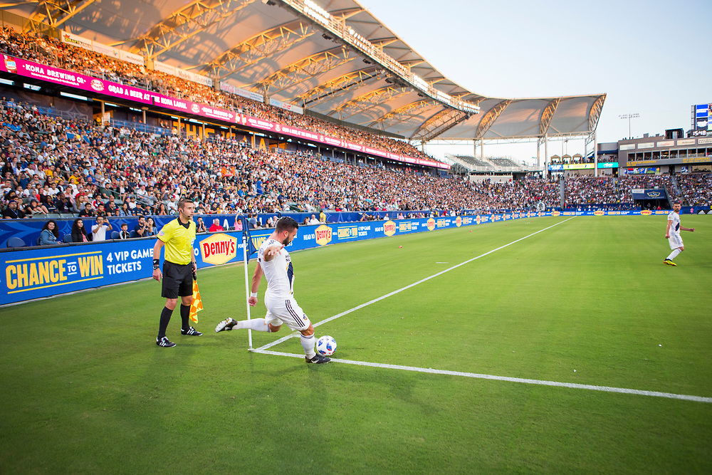 Romain Alessandrini. Photos taken in the summer of 2018 for the LA Galaxy home games against D.C. United, Minnesote United, Colorado Rapids and LAFC. Working with head photographer Rob Mora. Major League Soccer. ©justinalexanderbartels.com