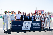 June 13-18, 2017. 24 hours of Le Mans. Chase Carey, Chairman of the Formula One Group, Jean Todt FIA President and LMP1 drivers from Porsche, ByKolles Racing Team and Toyota Gazoo Racing