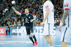 William Accambray #6 of Paris Sant-Germain during handball match between PPD Zagreb (CRO) and Paris Saint-Germain (FRA) in 11th Round of Group Phase of EHF Champions League 2015/16, on February 10, 2016 in Arena Zagreb, Zagreb, Croatia. Photo by Urban Urbanc / Sportida