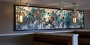 """'KULSHAN MEADOW' . 13' 4"""" x 3' 2"""" (frame); 156"""" x 34"""" (canvas) . RochonFineArt.com . Acrylic & Ink on Hand Stretched Canvas & Custom Crafted Frame, Created Exclusively for this Painting by John Henderson"""