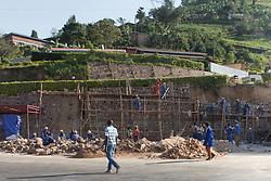 Constructing Stone Wall