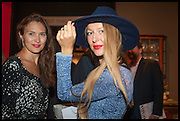 JULIA FLIT; LISA URLA at the preview of LAPADA Art and Antiques Fair. Berkeley Sq. London. 23 September 2014.