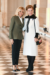 French President's wife Brigitte Macron welcomes XXX as they take part in a spousal event at the Chateau de Versailles in Versailles, near Paris, on November 11, 2018 as part of commemorations marking the 100th anniversary of the 11 November 1918 armistice, ending World War I. Photo By Laurent Zabulon/ABACAPRESS.COM