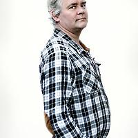 Nederland, Ijmuiden , 29 maart 2013.<br /> Ex kraker Jan Muter uit 1980 tijdens de Troonswisseling die lijnrecht tegenover de ME stond.<br /> Foto:Jean-Pierre Jans