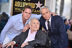 Kirk Douglas Dies At 103 - Cameron Douglas and Kirk Douglas attend the ceremony honoring Michael Douglas with a star on the Hollywood Walk of Fame in Los Angeles, California on November 6th, 2018. Photo by Lionel Hahn/ABACAPRESS.COM