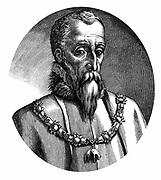 Ferdinand Alvarez de Toledo, Duke of Alva (1508-1582) Spanish general and statesman. As lieutenant-general in the Netherlands 1567-1573, enforced brutal anti-Protestant rule. He is wearing the Order of the Golden Fleece. Engraving