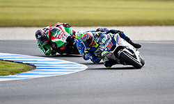 October 26, 2018 - Melbourne, Victoria, Australia - Spanish rider Jordi Torres (#81) of Reale Avintia Racing leads a group of riders during day 2 of the 2018 Australian MotoGP held at Phillip Island, Australia. (Credit Image: © Theo Karanikos/ZUMA Wire)