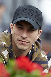 April 6, 2018 - Valencia, Valencia, Spain - Carlos Soler football player of Valencia CF attends the match between Rafael Nadal of Spain and Philipp Kohlschreiber of Germany during day one of the Davis Cup World Group Quarter Finals match between Spain and Germany at Plaza de Toros de Valencia on April 6, 2018 in Valencia, Spain  (Credit Image: © David Aliaga/NurPhoto via ZUMA Press)