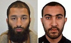 Undated handout photos issued by the Metropolitan Police of Khuram Shazad Butt (left) and Rachid Redouane, who have been named as two of the London Bridge terrorists.