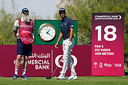 Johannes Veerman (USA) on the 18th during Round 1 of the Commercial Bank Qatar Masters 2020 at the Education City Golf Club, Doha, Qatar . 05/03/2020<br /> Picture: Golffile   Thos Caffrey<br /> <br /> <br /> All photo usage must carry mandatory copyright credit (© Golffile   Thos Caffrey)