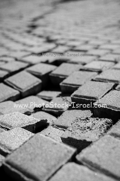 shattered pattern. Sunken square paving stone pattern