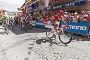 Alberto Contador praying during the departure  of the last step of the Vuelta de EspaÒa 2012 at Cercedilla