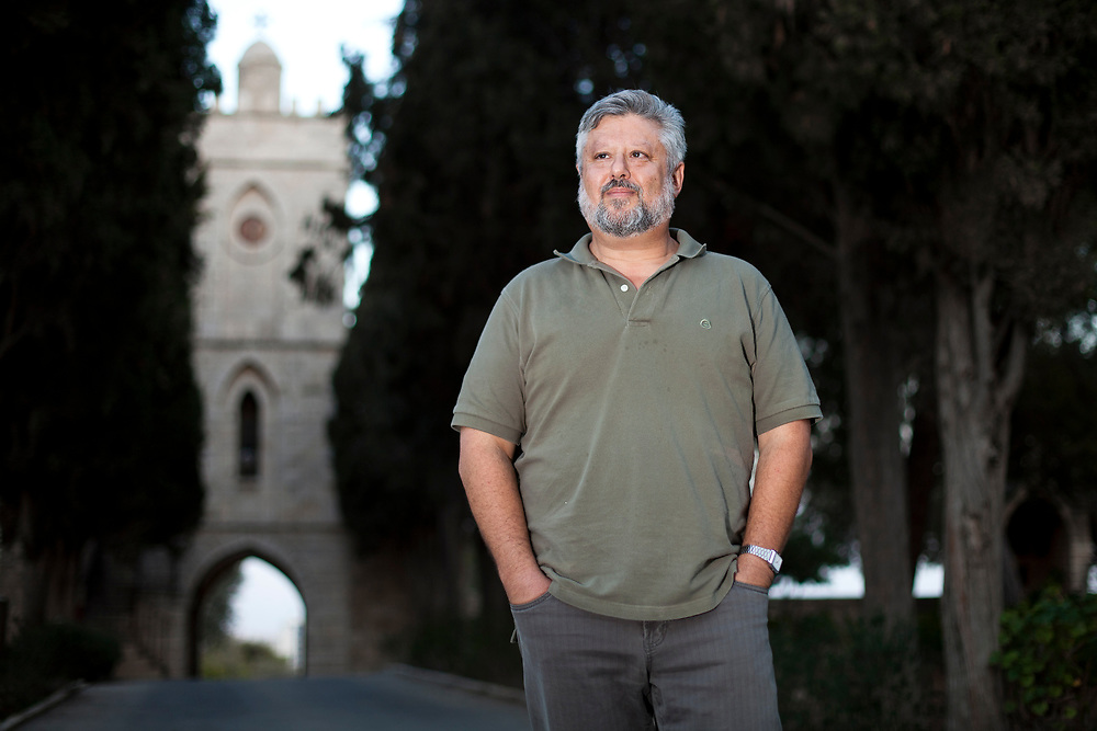 Gershon Baskin, Co-Director and founder of the Israel/Palestine Center for Research and Information, an NGO and think tank established in 1988 to pursue a two-state solution to the Israeli-Palestinian conflict, poses for a portrait in Jerusalem, Israel, on October 16, 2011.
