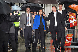 © Licensed to London News Pictures. 24/09/2019. London, UK. GINA MILLER is seen arriving at the The Supreme Court in London where a verdict is expected on an appeal against a judicial review of Boris Johnson's suspension of Parliament. The case has been brought by remain campaigner Gina Miller, with support from former British Prime Minister John Major. Photo credit: Ben Cawthra/LNP