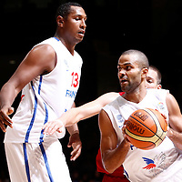 27 August 2011: Boris Diaw and Tony Parker are seen during the friendly game won 74-44 by France over Belgium, in Lievin, France.