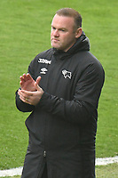 Football - 2020 / 2021 Sky Bet Championship - Swansea City vs Derby County - Liberty Stadium<br /> <br /> Derby County manager Wayne Rooney claps on the touchline<br /> <br /> COLORSPORT/WINSTON BYNORTH