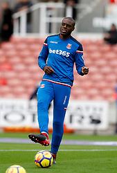 Stoke City's Bruno Martins Indi during warm-up