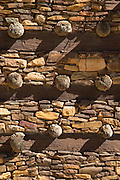Example of 6th Century Ethiopian masonry in Debre Demo Church. West of Adigrat, Tigray Region. Ethiopia, Horn of Africa