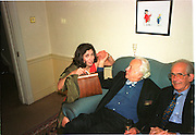 Kimberley Fortier and Sir Peregrine Worsthorne. Spectator  Summer party. Doughty St. 7/6/2000. SUPPLIED FOR ONE-TIME USE ONLY> DO NOT ARCHIVE. © Copyright Photograph by Dafydd Jones 66 Stockwell Park Rd. London SW9 0DA Tel 020 7733 0108 www.dafjones.com