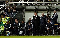 Photo. Jed Wee, Digitalsport<br /> Newcastle United v Sporting Lisbon, UEFA Cup, 16/12/2004.<br /> Team unrest results in Newcastle only being able to name five substitutes on the bench to face Sporting Lisbon, two shy of UEFA's allowance.