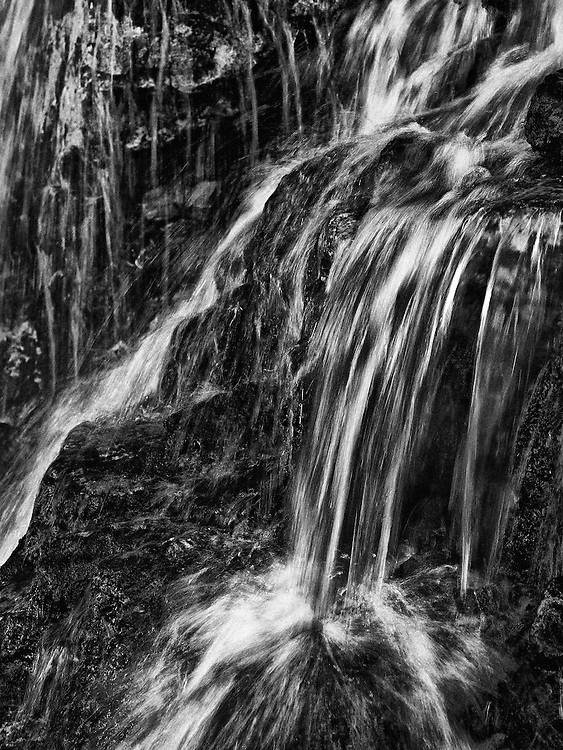 Norway - Small waterfall in Romsdal's valley BW II