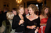 Flora Fraser and Harriet Sargeant, Flora Fraser launch party for her book ' Princesses the Daughters of George 111' the Savile club, Brook St. 14 September 2004. SUPPLIED FOR ONE-TIME USE ONLY-DO NOT ARCHIVE. © Copyright Photograph by Dafydd Jones 66 Stockwell Park Rd. London SW9 0DA Tel 020 7733 0108 www.dafjones.com