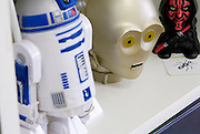 3 Star wars dolls R2-D2 C-3PO and Darth Maul