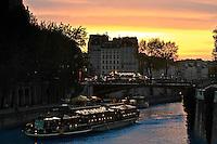 Bridge of Paris, near St Michel. France.