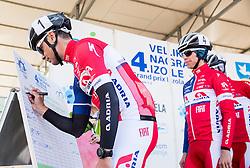 GOLČER Jure (SLO) of Adria Mobil and GROŠELJ Žiga (SLO) of  Adria  Mobil during the UCI Class 1.2 professional race 4th Grand Prix Izola, on February 26, 2017 in Izola / Isola, Slovenia. Photo by Vid Ponikvar / Sportida