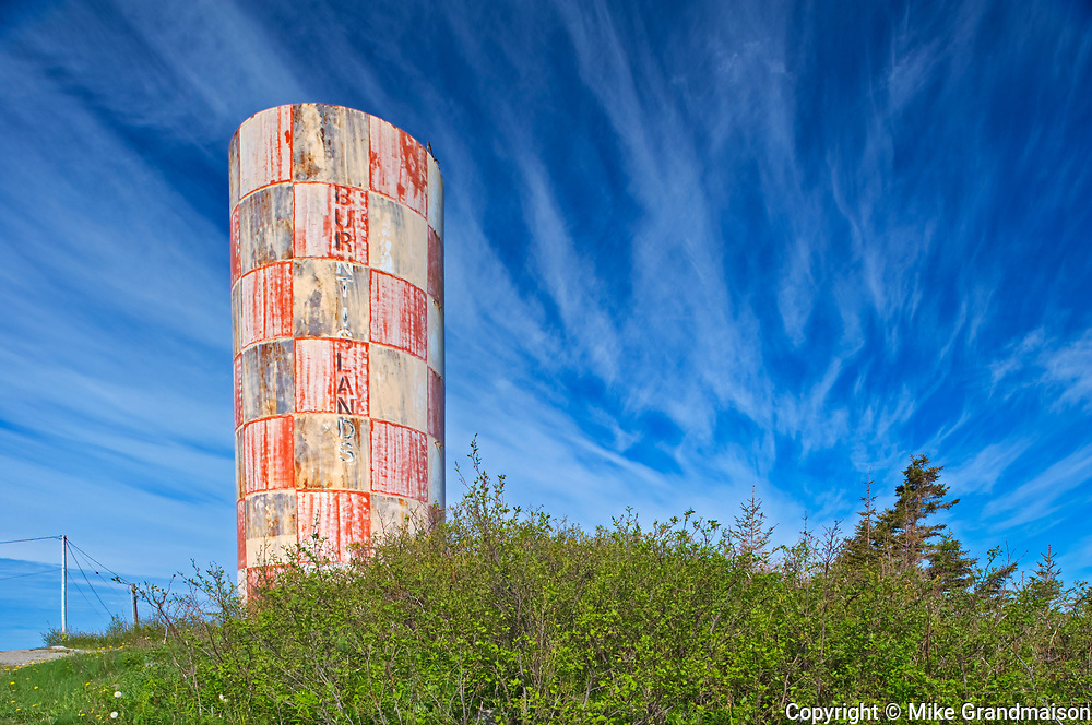 Water tower and clouds<br />Burnt Islands<br />Newfoundland & Labrador<br />Canada