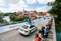 Police car during the 5th Stage of 27th Tour of Slovenia 2021 cycling race between Ljubljana and Novo mesto (175,3 km), on June 13, 2021 in Slovenia. Photo by Matic Klansek Velej / Sportida